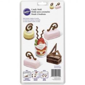 Molde decorações de chocolate Wilton