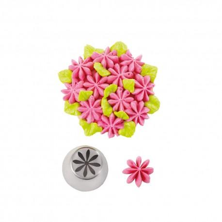 Bico pasteleiro flores creme nº 25 decora