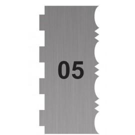 Espátula - pente em acrilico com 21x8 cms - 2 motivos