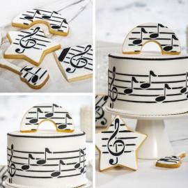 Stencil -Marcador música notas músicais Decora