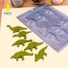 Molde acetato para chocolate porto formas dinossauros