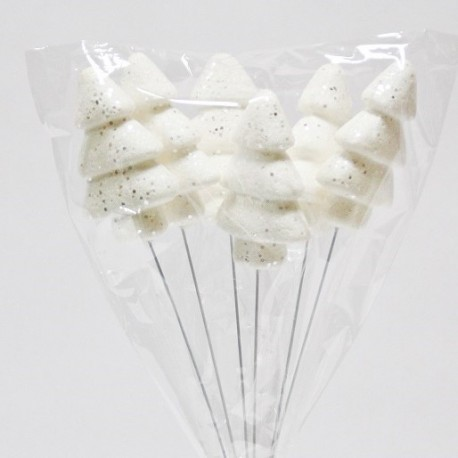 Arvore branca com espeto - pack de 6 unid.