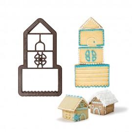 Cortante casa gengibre 3D decora Natal