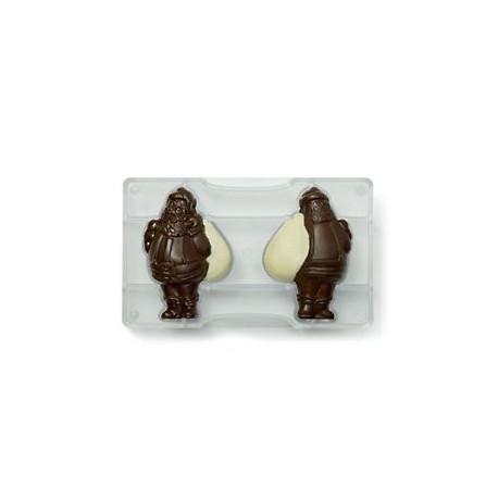 Molde policarbonato Pai natal decora chocolate