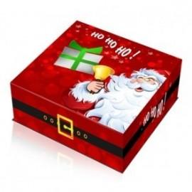 Caixa cartolina com 24x24 cm pai natal