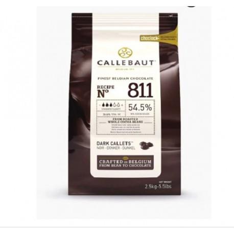 Chocolate Escuro 811 Callebaut 1kg 54,5% min cacau