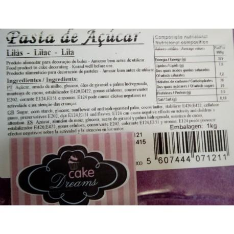 Pasta de açúcar Lilás 1 kg sabor sugo - chiclet