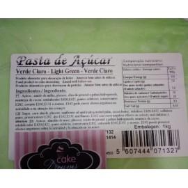 Pasta de açúcar Verde Claro 1 kg sabor sugo-chiclet