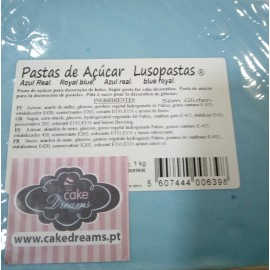 Pasta de açúcar Azul real 1 kg sabor tradicional