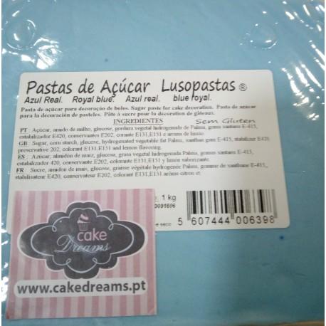 Pasta de açúcar Azul real1 kg