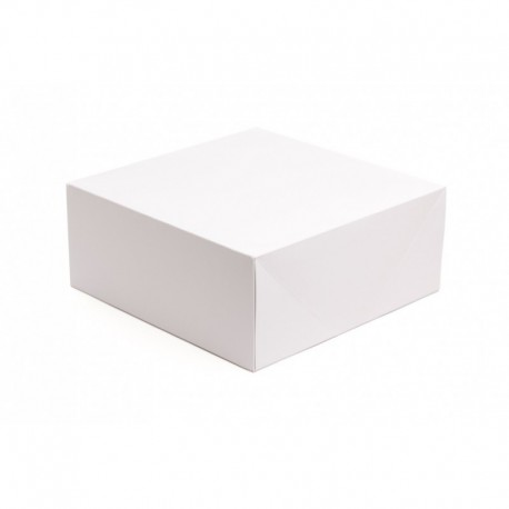 Pack Caixa cartolina branca 20x20x7 cm - 100 unid.