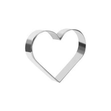 Aro em forma de coração inox com 10 cms e altura de 4,5 cms
