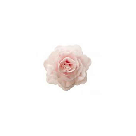 Flor em hóstia obreia rosa gigante 12,5 cms Dekora