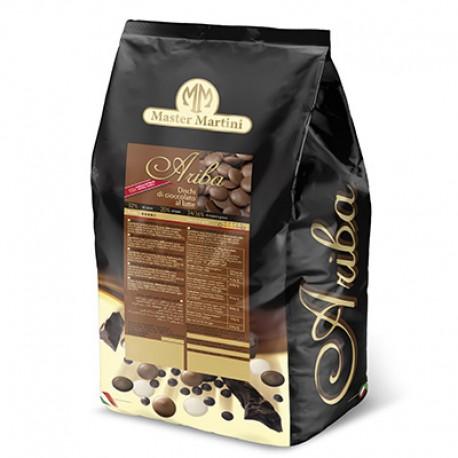 Chocolate leite puro mínimo 32% cacau Master Martini 1 kg Ariba