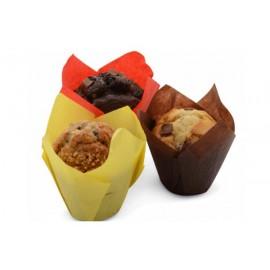 Forma papel tulipa muffins (grande) - 100 unid. várias cores
