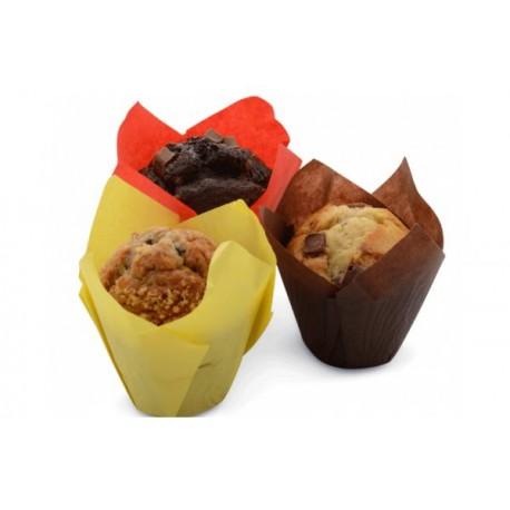 Forma papel tulipa muffins (grande) - 100 unid. cores sortidas