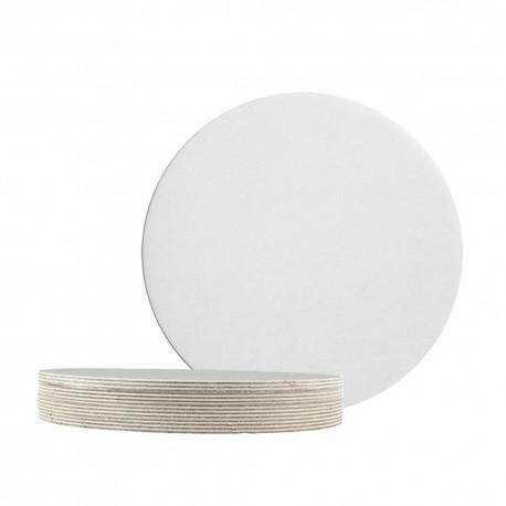 Base cartão branca diâmetro 30 cm