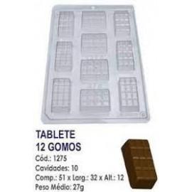 Molde acetato para chocolate BWB mini tablet 1275