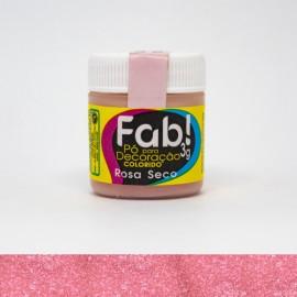 Pó para Decoração Brilhante Rosa Seco 3g FAB