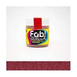 Pó para Decoração Brilhante vermelho morango 3g FAB