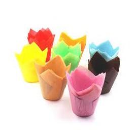 Forma papel tulipa sortida muffins (mini) - pack 100 unid.