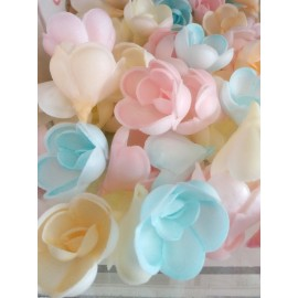 Flores em hóstia coloridas dekora (individual) - 4.5 cms
