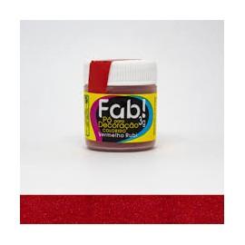 Pó para Decoração Brilhante vermelho rubi 3g FAB