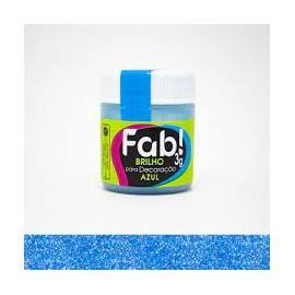 Pó para Decoração brilho azul 3g FAB