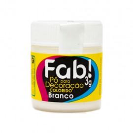 Pó para Decoração branco cintilante 3g FAB