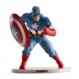 Capitão América com 7,5 cms Dekora - Avengers