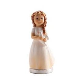Menina comunhão 16 cm Dekora com pomba