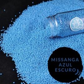 Pérola mini azul escura - missanga 75 gr.