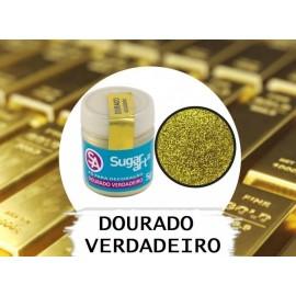 Corante em pó dourado verdadeiro 5 gr. Sugar Art