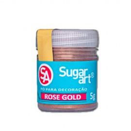 Corante em pó rosa gold 5 gr. Sugar Art
